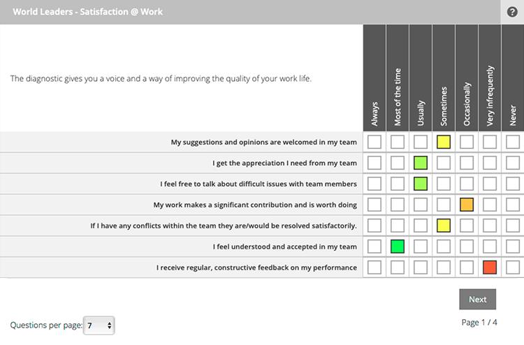 BP2W Diagnostic questions